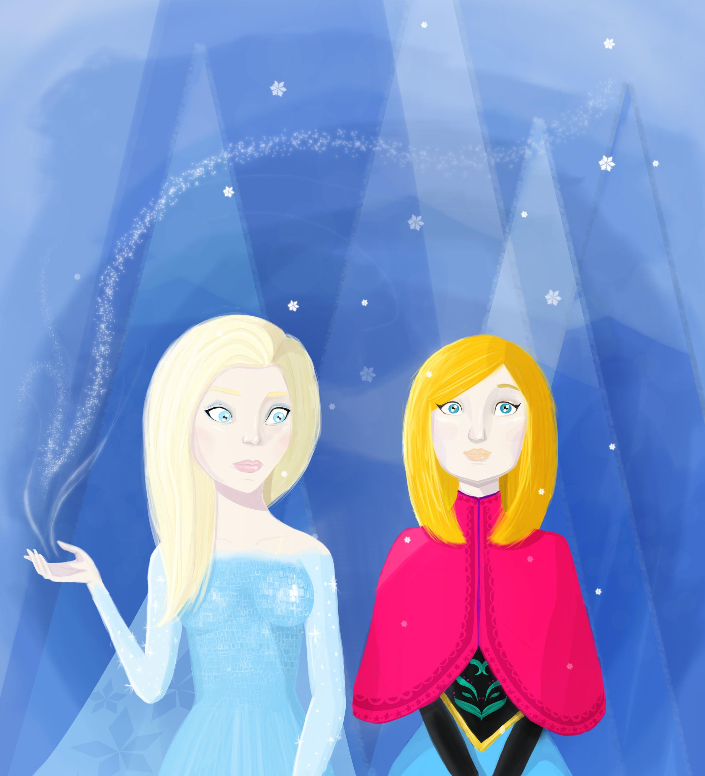 illustration frozen rainbowunicornkitty