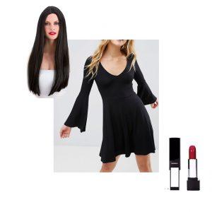 Morticia Addams Halloween costume cosplay idea