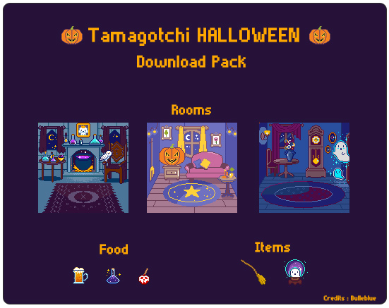 Tamagotchi Downloads - Halloween pack