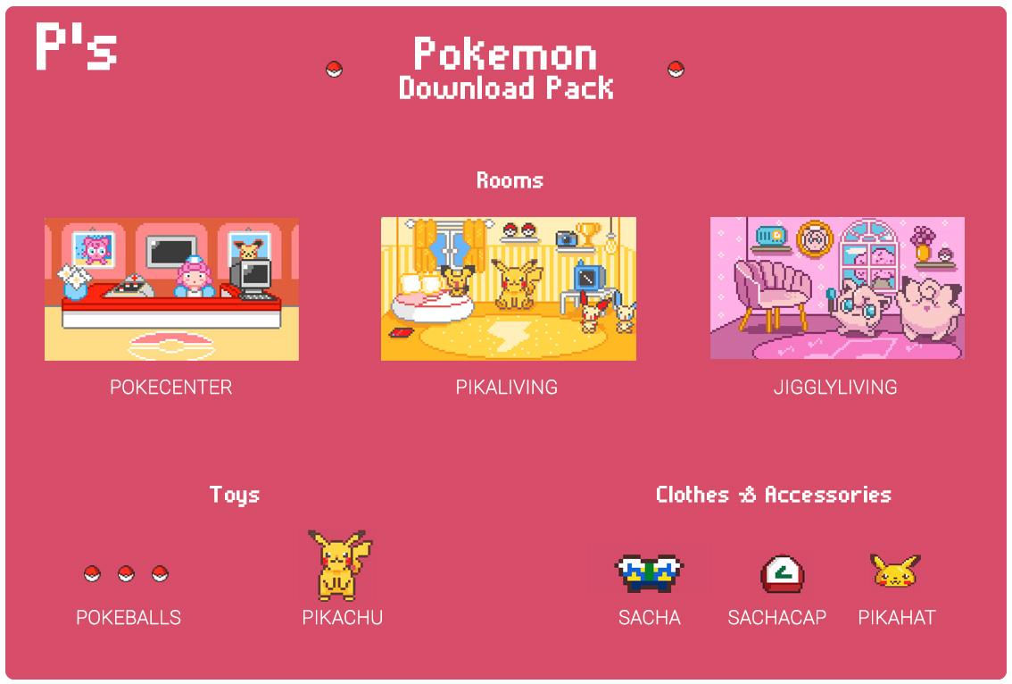 Tamagotchi P's download items
